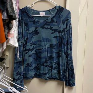 Sundry blue camo sweatshirt